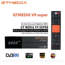 GTMedia V9 Super odbiornik satelitarny DVB-S2 H.265 wbudowany WiFi GTmedia V8 NOVA V9 Super receptory