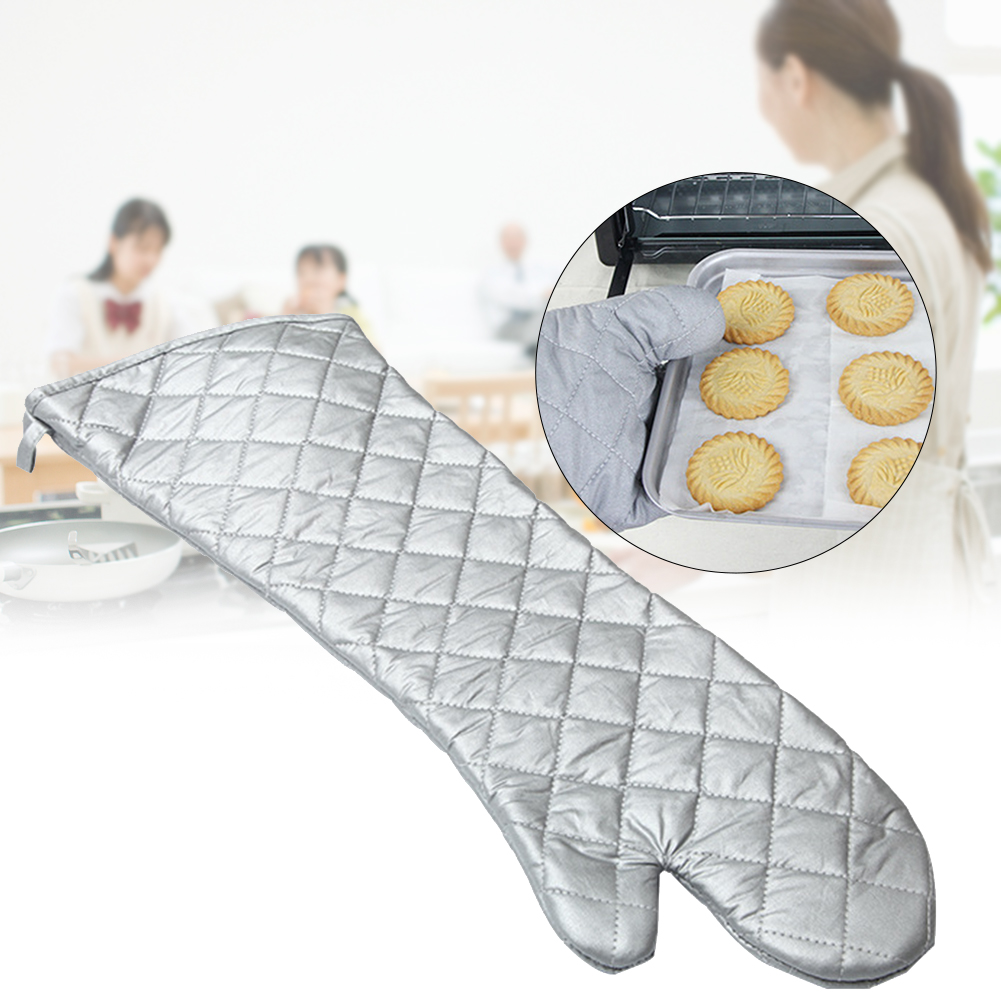 Oven Mitts Heat Resistant Hanging Outdoor Long Kitchen Glove Barbecue Protective 24 Inch Anti-scalding Cooking Thickening Baking
