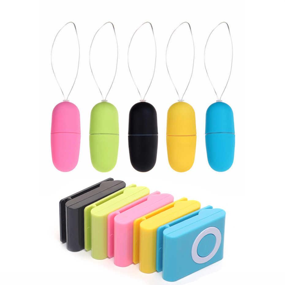 20 Speed Mini Bullet Vibrator untuk Wanita Tahan Air Klitoris Stimulator Vibrator Wireless Remote Telur Anal Vibrator