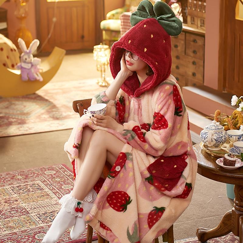 Kawaii Cozy Winter Nightgown 4