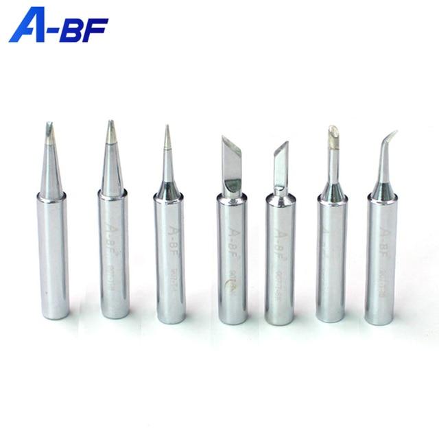 A BF 907 séries de solda ferro ponta nível c ofício cobre para ferramentas reparo retrabalho solda 7 modelos cabeça ponta solda