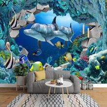 Самоклеящиеся обои на заказ hd подводный мир Детский рай аквариум