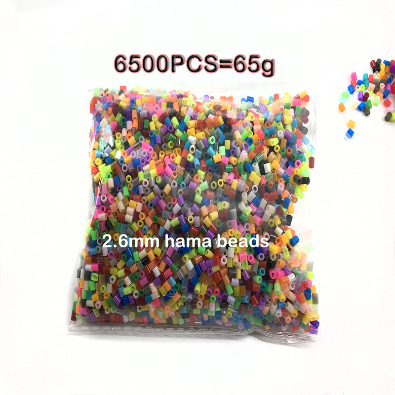 6500pcs / Bag 2.6mm Mini Hama Beads Kids DIY Toy Activity Colormixing Fuse Beads Learning Toys For Children