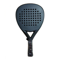 Professional Carbon Paddle Racket Soft EVA Face Tennis Raqueta With Padel Racket Bag For Men Women Training Accessories