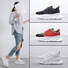 女性のカジュアルシューズ 2019 ホワイトプラットフォームスニーカーレースアップ縫製メッドウェッジの靴 Zapatillas Mujer フロックデザイナー靴