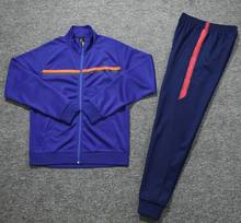 Mode Survetements De Voet Mannen 2019/2020 Paars Donkerblauw Voetbal Trainingspak Training Jacket Voetbal Trainingspak Voetbal 20(China)