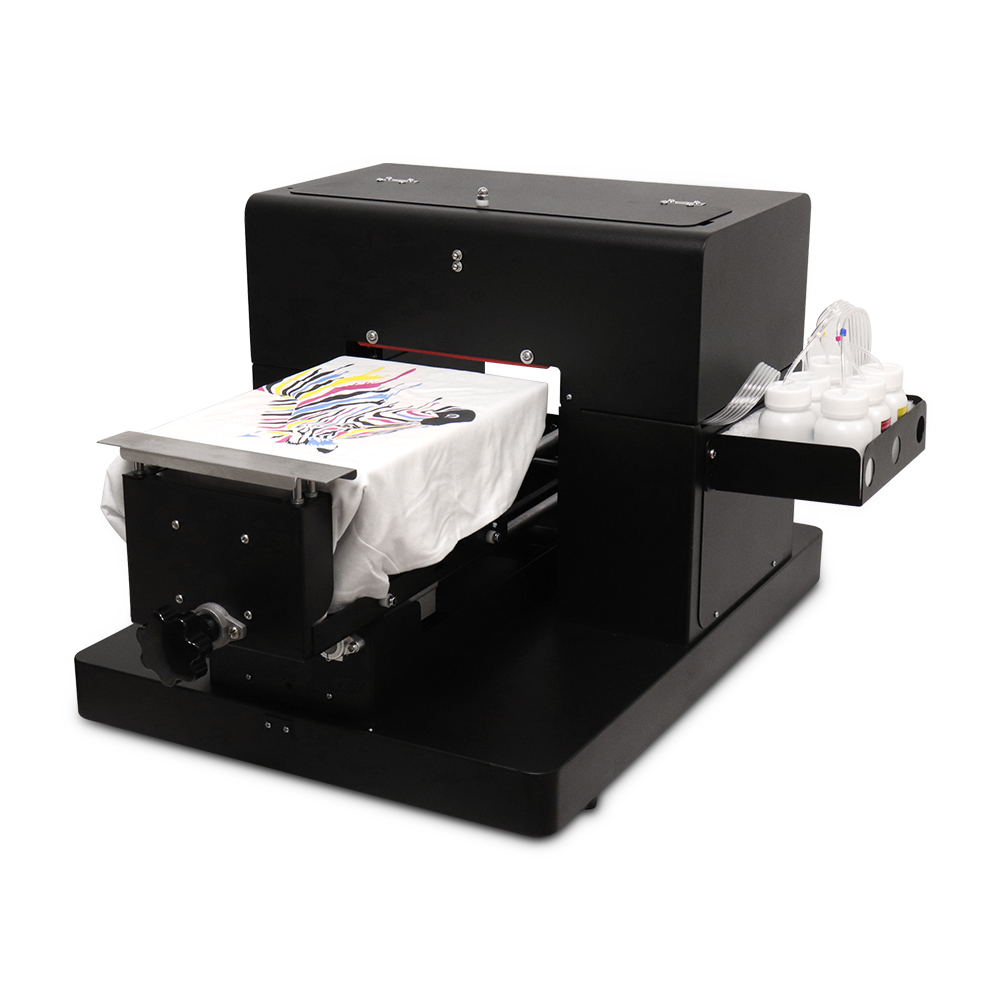 High quality A4 size Flatbed <font><b>Printer</b></font> DTG T-shirt Print Machine for <font><b>EPSON</b></font> <font><b>L800</b></font> R330 for White/ Dark Color Clothing Textile image