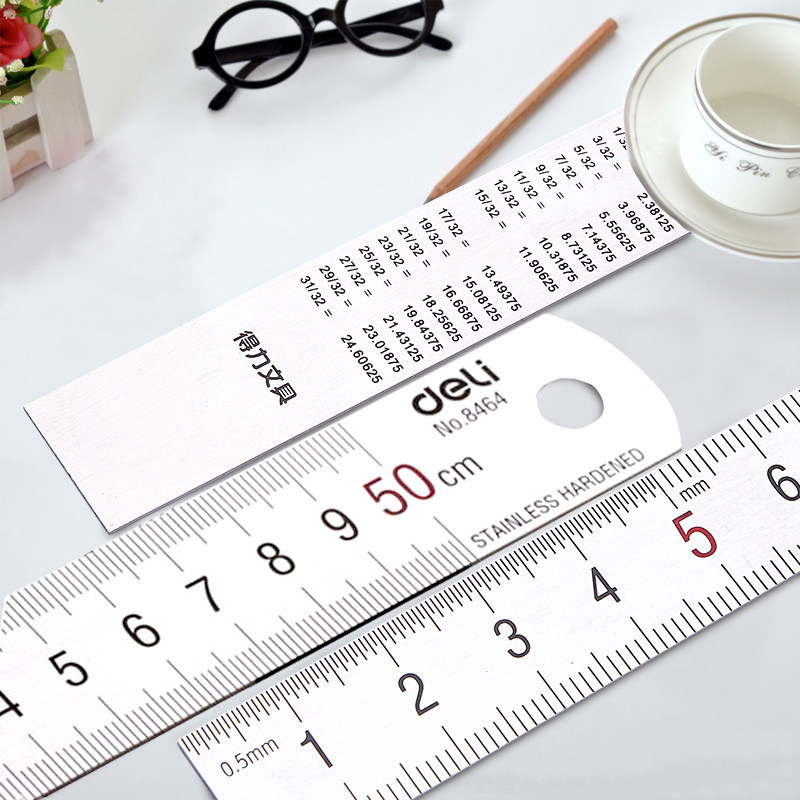 8464 Steel Ruler 50cm Set Of Drafting Rules Sewing Design Ruler Office Supplies Learning Stationery