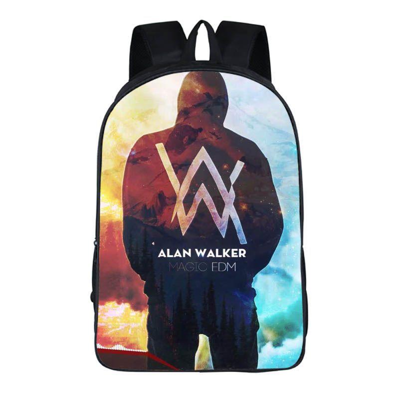 16 INCH Alan Walker DJ Multifunction Backpack Women Men Travel Bag Hip Hop School Bags For Teenagers Laptop Backpack