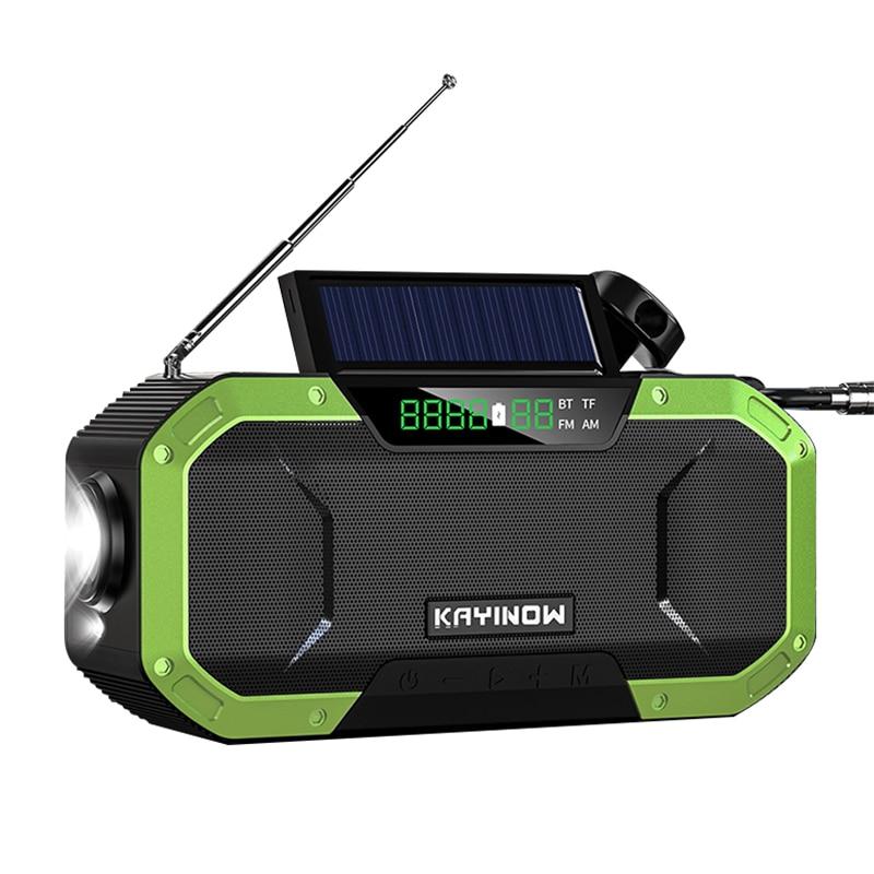 Emergency Solar Hand Crank Weather Alert AM//FM//NOAA Radio SOS Power Bank LED USB