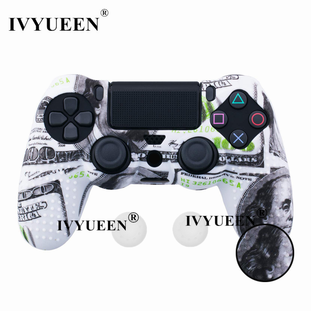 for PlayStation 4 ps4 Pro slim controller silicone case skin 08