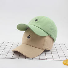 Maple Leaf Embroidery Baseball Hat for Men Women Cotton Soft Top Caps 6 Panels Dad Hat Bone Snapback Kpop Hats Hip Hop Cap(China)
