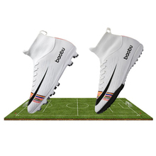 New Soccer Shoes Men High Top Training Ankle AG/TF Sole Outdoor Cleats Sport Shoes Spike Women Crampon Football Turf Boots Mens tiebao footbal shoes men 2017 new soccer shoes tf turf sole soccer boots football shoes adults athletic football boots