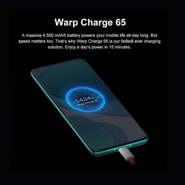Oneplus 8 T 8 T 5G SmartPhone 120Hz fluide AMOLED affichage Snapdragon 865 65W Charge de chaîne un plus 8 T téléphone portable 3