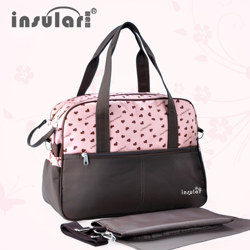 Insular Elegance Printed Multi-functional Large-Volume Expectant Mommy Bag Shoulder Maternal And Child Supplies Diaper Bag