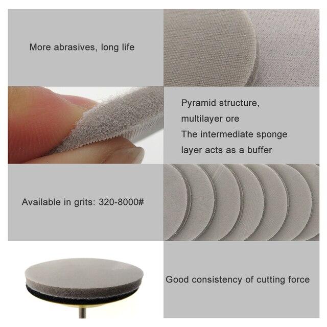 "3"" 75mm Trizact Hookit Foam Disc Wet & Dry Spong Sandpaper Disc 320-8000 Grit Polishing Buffer Sanding Paper Abrasive Tools"