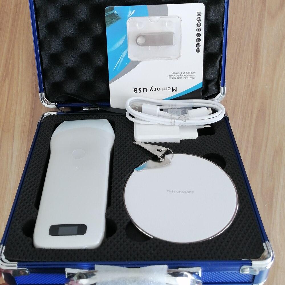 Sonda de escáner de ultrasonido portátil convexo/lineal 3,5/7,5/10/12 Mhz Apple Ipad mini/Ipad air/Iphone/Android teléfonos o almohadilla
