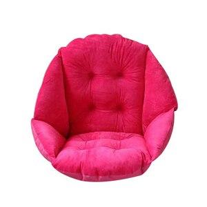 Image 3 - Suporte lombar quente grosso do coxim da cadeira de lanke para trás, almofada de assento multiuso para o escritório em casa
