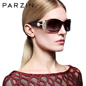 Image 5 - PARZIN Luxury Sunglasses Women Designer Vintage Polarized Ladies Sun Glasses For Women Hollow Lace Female Glasses For Driving