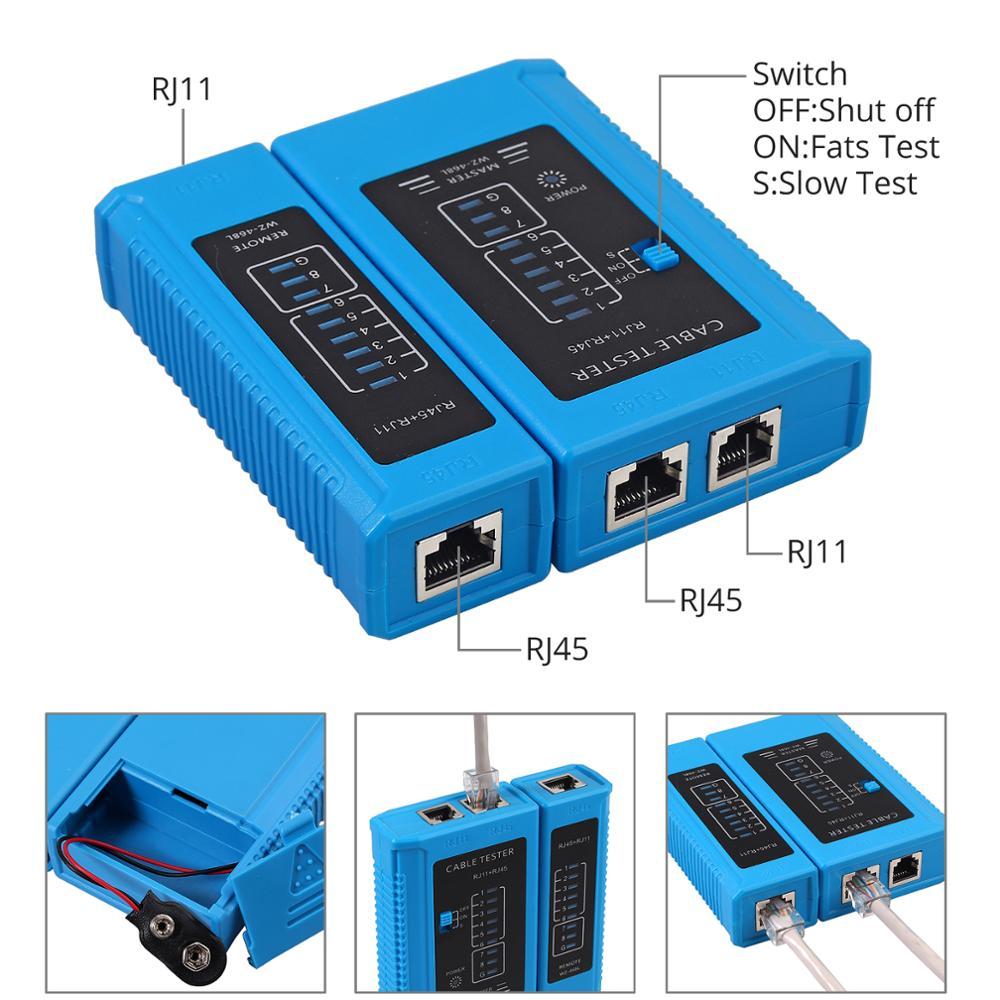 RJ11 For Tool Network RJ12 Computer Professional Tool CAT5 Cable Crimp RJ45 Lan CAT6 Maintenacnce Tester Repair Kit Set Cat5e