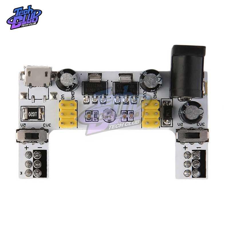 DC 7-12V MB102 Mini Micro USBอินเทอร์เฟซBreadboard Power SupplyโมดูลMB-102 โมดูลสำหรับArduino DIY Kitสีขาว 2 ช่องBoard