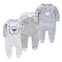 3pcs Newborn Baby Boys Pijamas Set Cartoon Infant Baby Girls Clothes Toddler ropa bebes de Baby Boy Pajamas Onesies