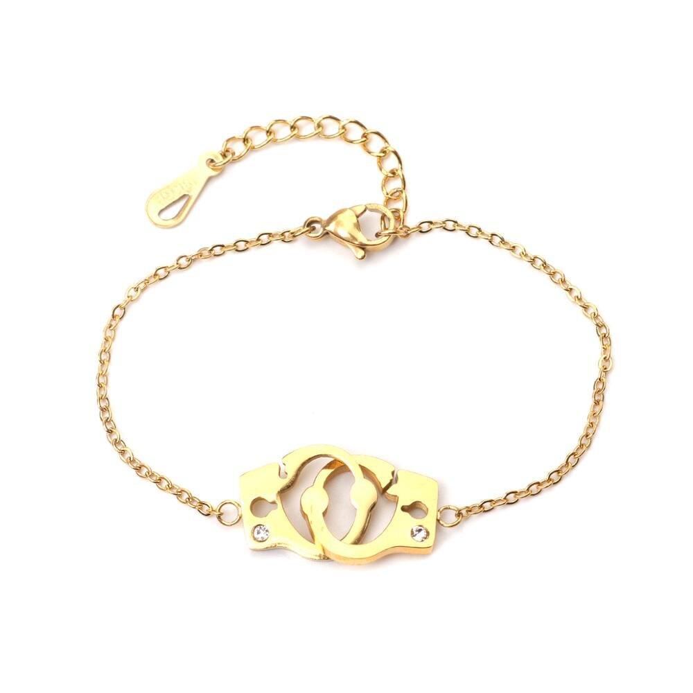 CapsA Geometric Round Chain Round Chain Bird Animal Ankle Chain Bracelet Gold