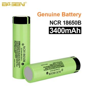 Basen New 100% Original 18650 battery NCR18650B 3.7v 3400mah Lithium Rechargeable Battery For Flashlight batteries (NO PCB) free shipping brand new 10pcs lot 100% genuine panasonics ncr18650b 3 6v 3400mah li ion rechargeable battery for led lights