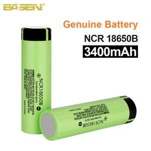 Basen New 100% Original 18650 battery NCR18650B 3.7v 3400mah Lithium Rechargeable Battery For Flashlight batteries (NO PCB)(China)