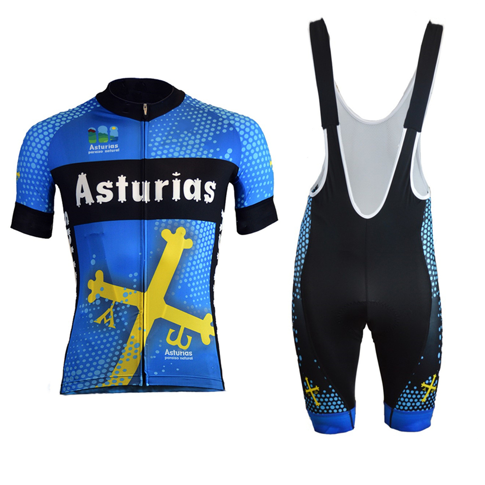 Asturias new cycling jersey suit summer men's short sleeve bike jersey kits wielerkleding trajes ciclismo invierno ciclyng set