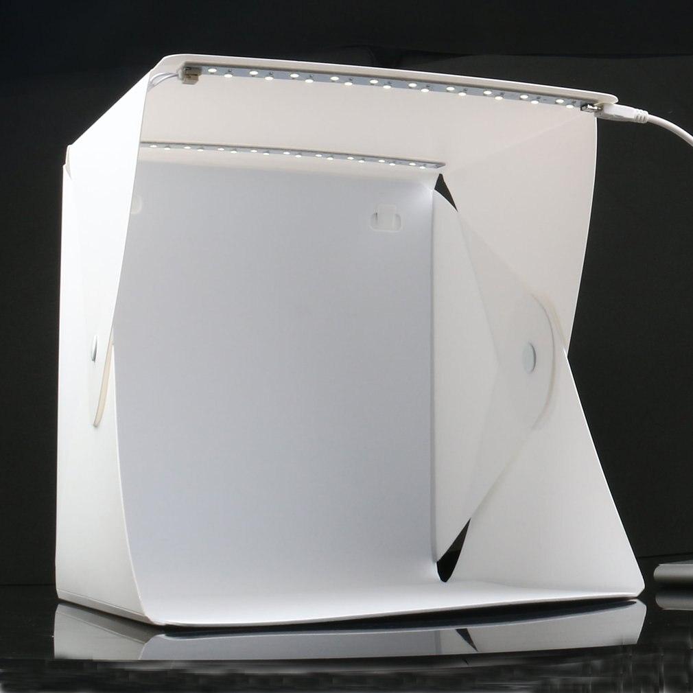 Mini caixa de luz dupla sala luz led foto estúdio fotografia iluminação tiro tenda pano de fundo caixa estúdio foto dropshipping