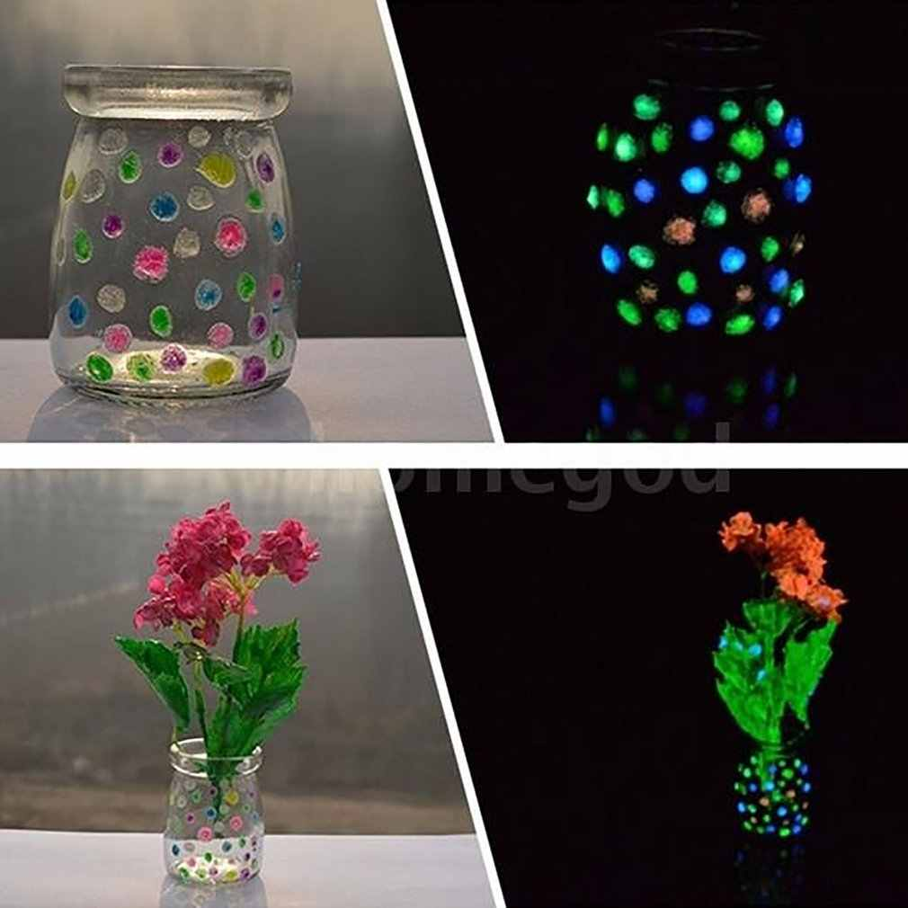Floresan Glow karanlıkta 10g işıltılı tahıl kum parti DIY parlak boya yıldız dileğiyle şişe floresan parçacıklar çocuklar oyuncaklar