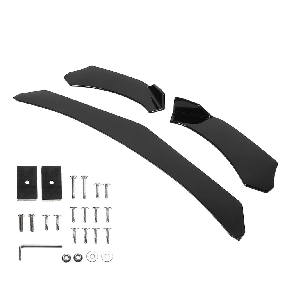 Vehemo Universal Bumper Lip Cover Body Kits Black Three-Stage for Honda Civi BMW Audi VW <font><b>Mercedes</b></font> image