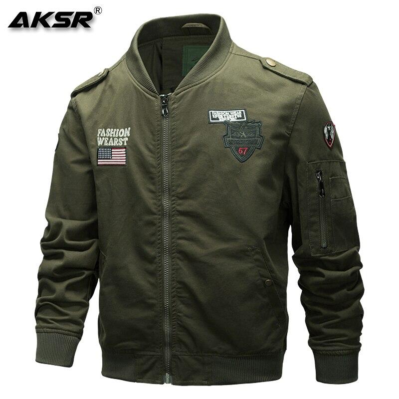 AKSR мужская куртка военная куртка Мужская модная одежда летная Куртка удобная, мягкая и эластичная ткань - 2