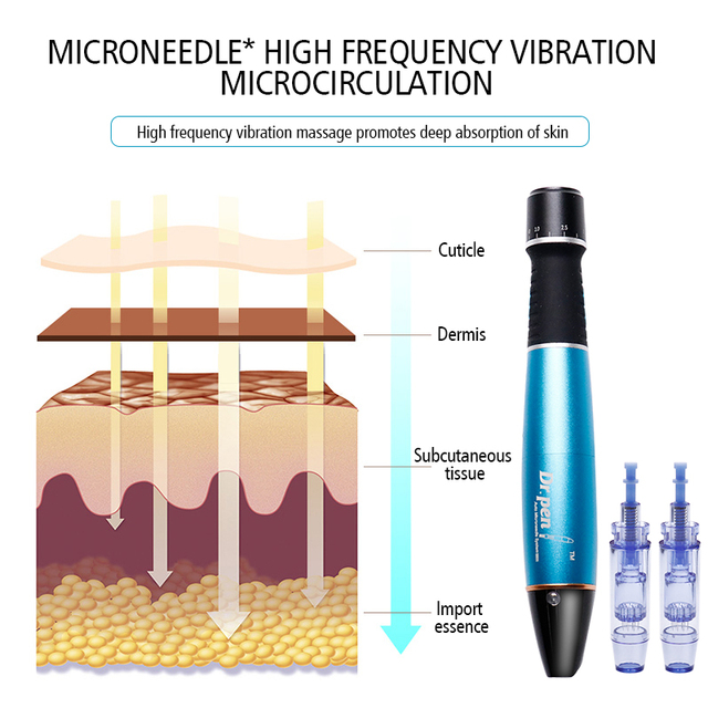 Electric Dr.pen Pen Micro Skin Care Dr.Pen Ultima A1-W Permanente Microblading Tattoo Needles Makeup Machine Eyebrows Eyeliner 3