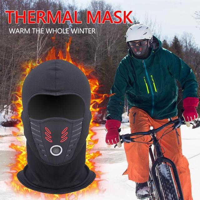 Winter Windproof Motorcycle Mask Polar Fleece Neck Warmer Thermal Balaclava Full Face Shield 2