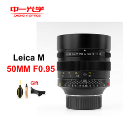 ZhongYi 50mm F0.95 III Lens Full Frame Manual focus for Leica M Mount Camera Large Aperture for Leica M9 M10 M-M M7 M8 Camera