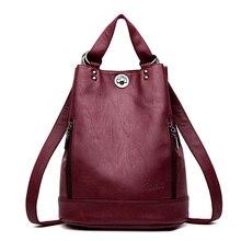 LANYIBAIGE kobiety plecak wysokiej jakości skórzane plecaki dla nastolatek dziewczyny kobieta szkolna torba na ramię Bagpack mochila plecak