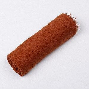 Image 3 - Bufanda de algodón suave para mujer, hiyab islámico, 180x70cm