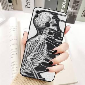 Image 5 - YNDFCNB Gothic Fashion Skull Phone Case for Huawei Honor 8x C 9 10 i lite play view 10 20 30 5A Nova 3 I