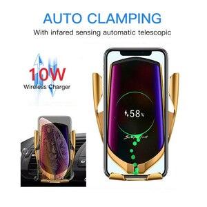 Image 4 - ワイヤレス車の充電器10ワットチー高速充電 クランプ車マウント空気ベント電話ホルダーすべてと互換性スマートフォン