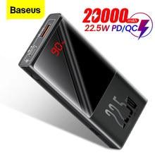 Batterie de puissance Baseus 20000mAh USB Type C PD QC 3.0 10000mAh Powerbank avec affichage LED chargeur de batterie externe Portable pour iPhone