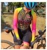 2020 ciclismo das mulheres manga longa ciclismo skinsuit macacão bodysuit trajes mujer gel conjunto bicicleta pro equipe de corrida roupas 22