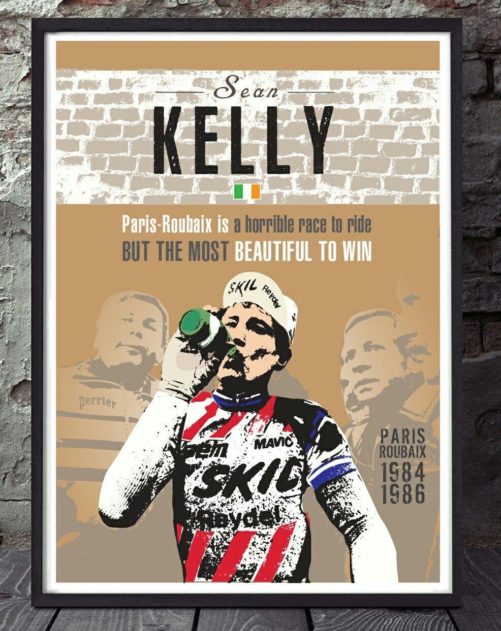especialmente creados Sean Kelly Paris Roubaix ciclismo Cartel