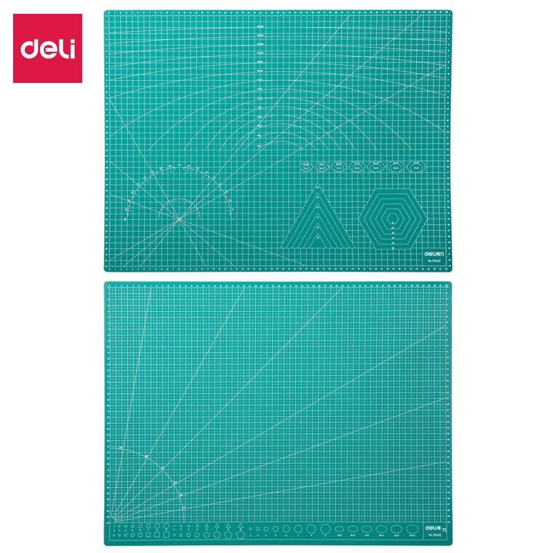 Deli A2 A3 A4 PVC Cutting Mat Board Cutter Paper Self Healing Pad Green Cricut Diy Tools Clear Scale Office School Suplies
