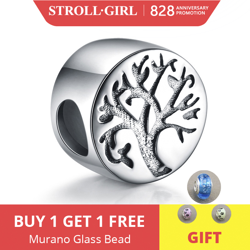 Strollgirl 925-Sterling-Silver Beads Pandora Bracelet Jewelry Charms-Fit Spring-Collection