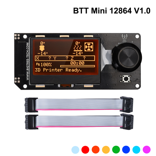 BIGTREETECH MINI 12864 V1.0 LCD Display Screen mini12864 Smart Display 3D Printer Parts BTT SKR Pro SKR V1.4 MKS Board VORON 2.4