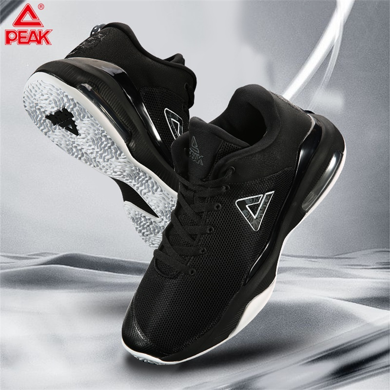 PEAK Men Air Cushion Basketball Shoes Breathable Mesh Wolf Head Embroidery Basketball Sneakers Cushion Wearable Sports Shoes|Basketball Shoes| |  - title=