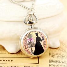 New Fashion Men and Women Ancient Style Pocket Watch QuartzStainless Steel Roman Digital Clock FashionLady