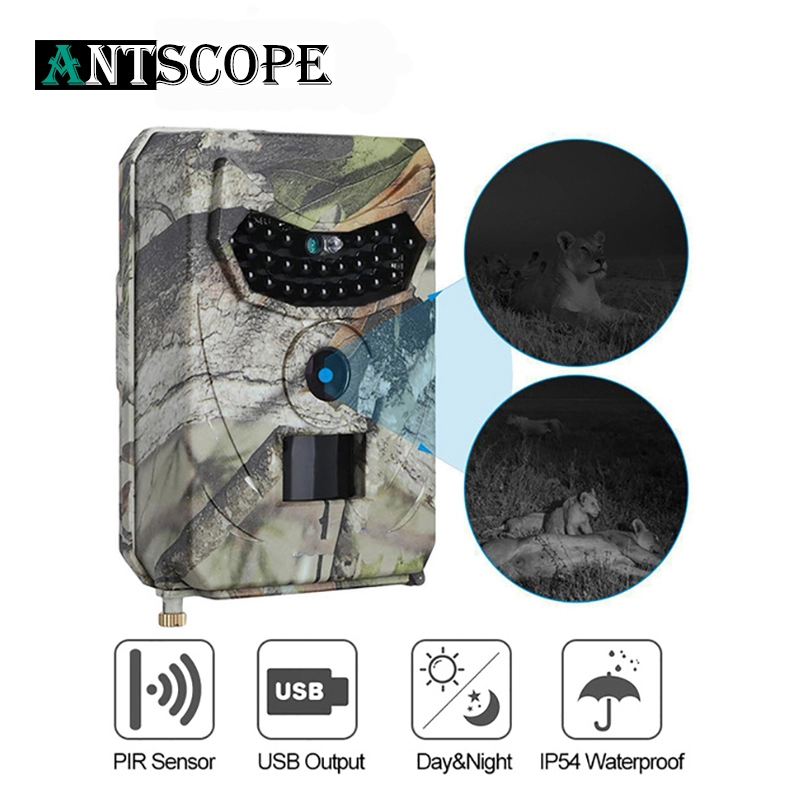 Antscope 1080P Hunting Camera IP54 Waterproof Night Vision For Animal Photo Wildlife Camera 940nm 120 Degree Viewing Camera Trap